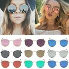 Fashion Women Mens Vintage Round Sunglasses Cute Retro Oversized Mirror Glasses