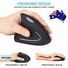 Wireless Mouse 2.4ghz Game Ergonomic Design Vertical Mouse 1600dpi Left Hand Au