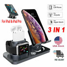 3in1 Charging Dock Station Holder Stand F Apple Watch Series AirPods iPhone iPad