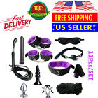 BDSM Adult Sex-SM-Toys Restraint Handcuffs Cuff String Whip Rope Neck Bandage US image