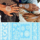 Arm Body Art Wedding Beach Decal Mehndi White Lace Henna Tattoo Sticker $9.34 USD on eBay