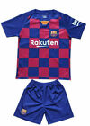 MC Lionel MESSI #10 Barcelona Home Kids Soccer Jersey & Shorts Set Youth Sizes