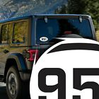 Riverside Area Code 951 Stickers | 5x3-Inches | Laminated UV Protected