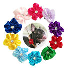 Flowers Dog Collar Charms Decorate Bowtie Pet Puppy Grooming Accessory  5cm