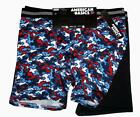 2 American Basics Red White Blue Camo & Black Performance Boxers Men's NWT