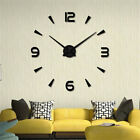 3D Diy Wall Clock Home Modern Decoration Crystal Mirror Stickers Living Roo TDO