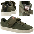 Puma Suede Heart Velvet Rope Womens Trainers Lace Up Shoes Olive 365111 01 B58B