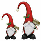 Hand Painted Metal Christmas Gnome Garden Home Xmas Ornament Decoration Gift