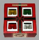 4 Crazy Boxer LRG Clear Plastic Christmas Ornaments Filled w/Boxers Men's NIB