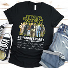 Star Wars Cast All Signed 43rd Anniversary 1977-2020 Gift T-Shirt $17.99 USD on eBay