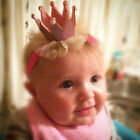 Girls Baby Toddler Turban Solid Headband Hair Band Bow Elastic Hairband Headwear
