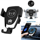 Universal Mobile QI Wireless Fast Charger Car Mount Holder Stand for Cell Phone