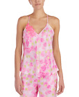 Betsey Johnson Floral-Embroidered Pajama Sleeveless Cami Top Pink