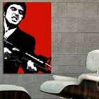 #68 Scarface Mob Mafia Gangster Movie Poster Canvas Ready to Hang Framed