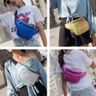 Pu Laser Women Shoulder Chest Bags Zipper Fanny Crossbody Waist Pack Pouch