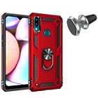 For Samsung Galaxy A20s/ A10s Shockproof Ring Holder Armor Case+Car Phone Holder