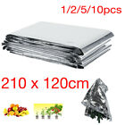 210 x 120cm Reflective Mylar Film Plants Garden Greenhouse Covering Foil Sheets