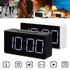 Simple LED Digital Alarm Clock w/ USB Port Snooze Table Clock Bedside Electronic