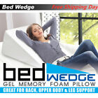 Sleep Bed Wedge Support Foam Pillow Large For Reading Knee Leg Back Acid RX image