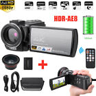 """HDR-AE8 3"""" 4K 16X Night Vision WIFI Digital Camera Camcorder +Wide Angle+Battery"""