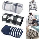 Soft Warm Flannel Blanket Throw Shawl Cape Poncho Wearable Blanket for Women Men image
