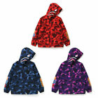 A BATHING APE BAPE KIDS COLOR CAMO SHARK HOODIE JAKCET 3colors New