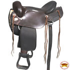 U104- Hilason Gaited Western Trail Pleasure Endurance Saddle Dark Brown U-B-VX