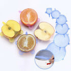 6X/Set Silicone Seal Lid Stretchy Bowl Cover Fridge Food Fresh-Keeping Protector