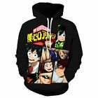 Boku no My Hero Academia Hoodie Casual Sweater Sweatshirt Pullover Jacket Black