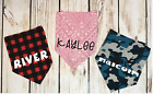 Dog Pet Bandana Personalized 3 Patterns Medium