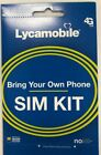 Lycamobile Prepaid Sim Card 23/ 29/ 35/ 39 1 Month Unlimited Text Talk Data