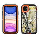 For Apple iPhone - Camo Hunting Mossy Heavy Duty Cover Case Holster Clip 02