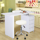 Manicure Table Technician Nails Art Station Desk Workstation Pedicure With Stool