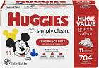 Huggies Simply Clean Baby Wipes Scented & Fragrance Free - PICK YOUR WIPES! ✔️✔️