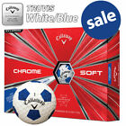 Callaway Chrome Soft Truvis Golf Balls - White/Blue NEW! 2019 *REDUCED*