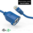 New Panel-Mount Cat.6 Ethernet Cable Blue