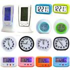 LED Night Light Digital Alarm Clocks Calendar Display Beside Desk Home Decor