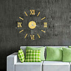 DIY 2020 Modern Large Wall Clock 3D Mirror Sticker Unique Big Number Watch Decor