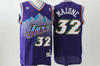 NEW Utah Jazz #32 Karl Malone Retro Swingman Basketball Jersey Purple on eBay