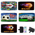Personalised Football Samsung Phone Case Flip Cover Birthday Gift Tennis Basket £10.95 GBP on eBay
