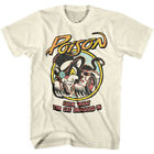 Poison Look Hot Wheels Cat Dragged In Men's T shirt Rock Band Live Concert Tee image