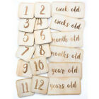 Infant Baby First Year Monthly Wooden Card Newborns Photograph Photo Props QK