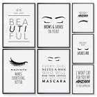 Bedroom Prints Beauty Wall Art Mascara Fashion Poster Makeup Funny Quote Print