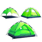 Automatic Double-Layer Tent for 3-4 Outdoor Camping Quick Open Multi-function