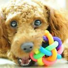 Pet Dog Puppy Dental Teething Healthy Teeth Chew Training Ball Funny Toy Pl S9M7