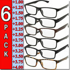 Kyпить Mens Womens Reading Glasses 6 Pairs Square Frame Readers Unisex Style Specs NEW  на еВаy.соm