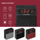 bluetooth Wireless Stereo Speaker LED Alarm Clock Micro USB SD Card MP3 Player