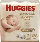 Huggies Nourish  Care Baby Wipes 3/6/8/12 Packs. IN STOCK READY TO SHIP