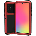 For Samsung Galaxy A71 LOVE MEI Metal + Tempered Glass Waterproof Case Cover