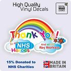 Thank You NHS Key Worker Charity Car Home Window COVID Virus Rainbow Sticker